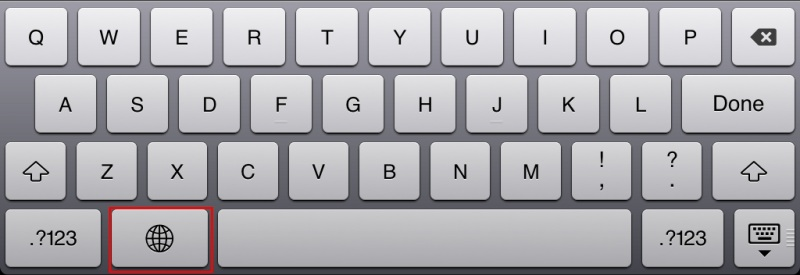 iPad keyboard